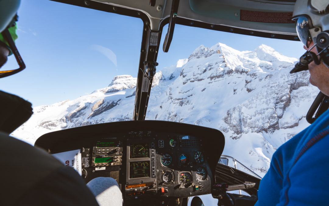 Helicopter ride to Wengen